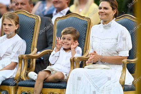 Prince Oscar, Princess Estelle and Crown Princess Victoria