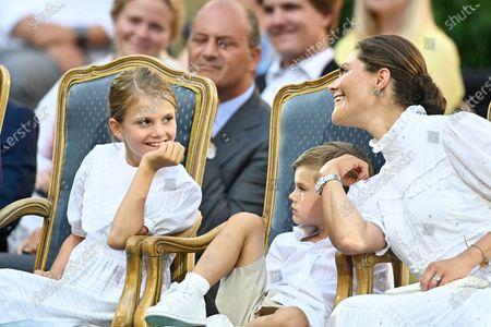 Princess Estelle, Prince Oscar and Crown Princess Victoria