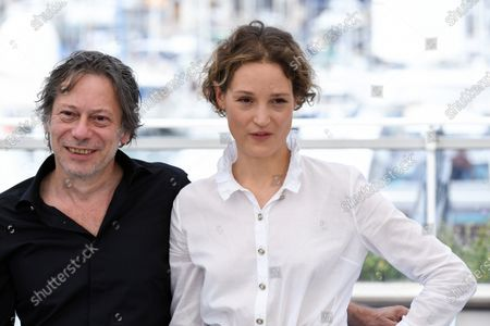 Mathieu Amalric and Vicky Krieps