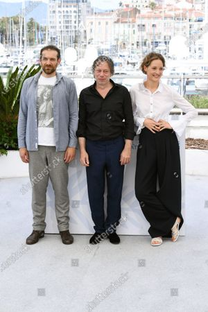Arieh Worthalter, Mathieu Amalric and Vicky Krieps