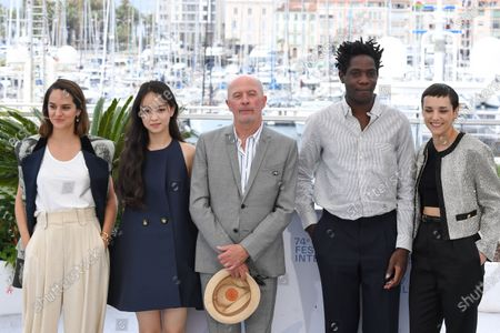 Noemie Merlant, Lucie Zhang, Director Jacques Audiard, Makita Samba and Jehnny Beth
