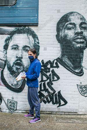 Editorial photo of England Euro 2020 mural in Vinegar Yard, Vinegar Yard, London, UK - 15 Jul 2021