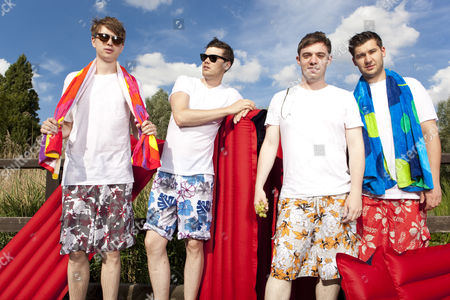 Stock Image of Everything Everything - Alex Robertshaw, Jeremy Pritchard, Jon Higgins and Mike Spearman