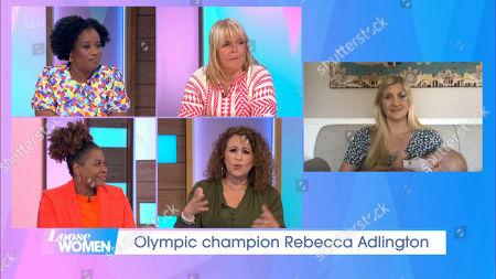 Brenda Edwards, Nadia Sawalha, Charlene White, Linda Robson, Rebecca Adlington