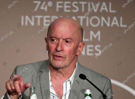 Jacques Audiard attends the press conference for 'Les Olympiades' (Paris, 13th District) at the 74th annual Cannes Film Festival, in Cannes, France, 15 July 2021. The movie is presented in the Official Competition of the festival which runs from 06 to 17 July.