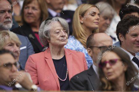 Dame Maggie Smith in the Royal Box on Centre Court