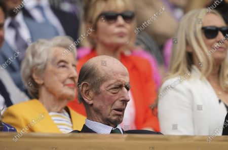 HRH Prince Edward, The Duke of Kent in the Royal Box on Centre Court