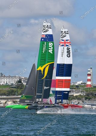 Editorial image of Practice session ahead of Great Britain SailGP, Sailing, Plymouth, UK - 15 Jul 2021