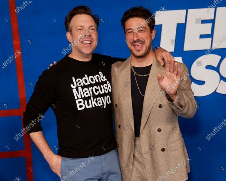 Stock Image of Jason Sudeikis and Marcus Mumford