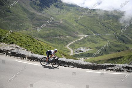 Canadian rider Michael Woods of the Israel Start-Up Nation team in action on the Col du Tourmalet during the 18th stage of the Tour de France 2021 over 129.7 km from Pau to Luz Ardiden, France, 15 July 2021.