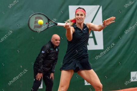 Editorial picture of 8th final Lausanne 2021 WTA 250 tennis tournament and the disturbance of the rain, Switzerland - 15 Jul 2021