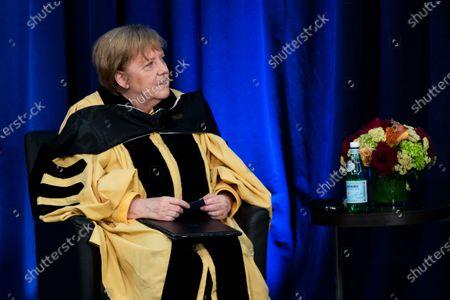 Editorial image of US Germany Merkel John Hopkins, Washington, United States - 15 Jul 2021