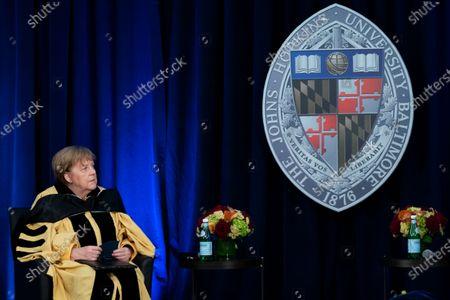 Editorial photo of US Germany Merkel John Hopkins, Washington, United States - 15 Jul 2021