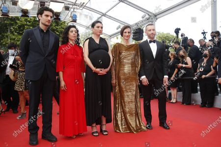 Stock Image of Louis Garrel, Naidra Ayadi, Rachel Lang, Camille Cottin, and Aleksandr Kuznetsov arrive for the screening of 'France' during the 74th annual Cannes Film Festival, in Cannes, France, 15 July 2021. The movie is presented in the Official Competition of the festival which runs from 06 to 17 July.