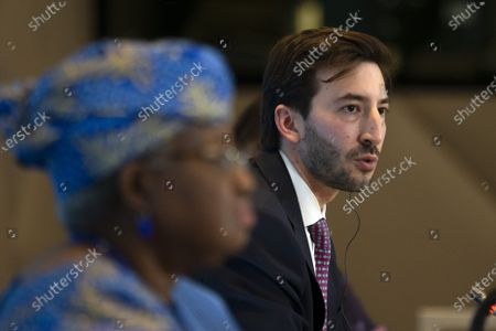 Editorial image of Press conference following a Fisheries Subsidies Meeting of the WTO Trade Negotiations Committee, Geneva Geneve Genf, Switzerland - 15 Jul 2021