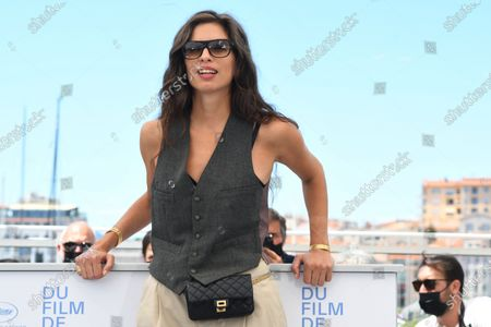 """Maiwenn attends the """"Tralala"""" photocall during the 74th annual Cannes Film Festival on July 14, 2021 in Cannes, France"""