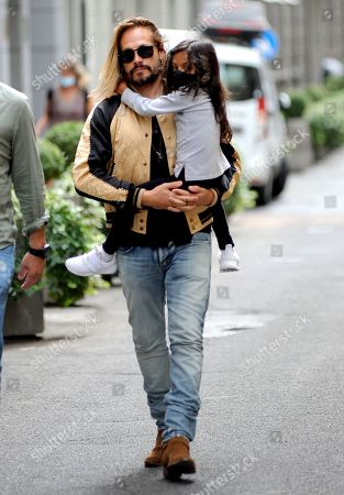 Editorial image of Zoe Saldana and Marco Perego out and about, Milan, Italy - 15 Jul 2021