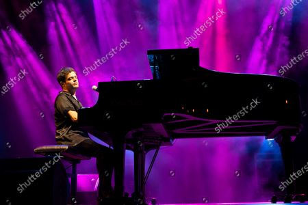 Jamie Cullum performs on stage during Mallorca Live Summer at Calvia, Mallorca, Balearic Islands, Spain, 15 July 2021.