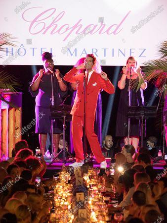 Singer Mika is seen performing