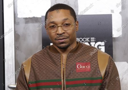 """Malcolm Mays arrives on the red carpet at the """"Power Book III: Raising Kanan"""" New York Premiere at Hammerstein Ballroom on July 15, 2021 in New York City."""