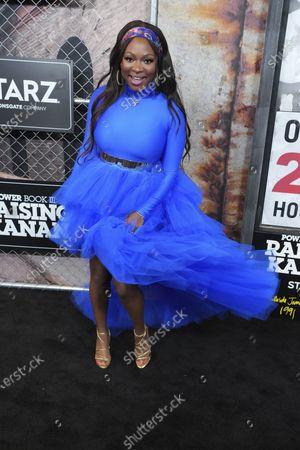 "Naturi Naughton attends the world premiere of ""Power Book III: Raising Kanan"" at the Hammerstein Ballroom, in New York"