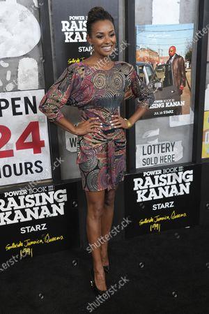 "Melanie Liburd attends the world premiere of ""Power Book III: Raising Kanan"" at the Hammerstein Ballroom, in New York"