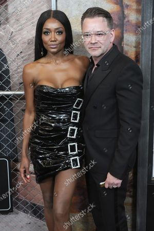 """Patina Miller and David Mars attend the world premiere of """"Power Book III: Raising Kanan"""" at the Hammerstein Ballroom, in New York"""