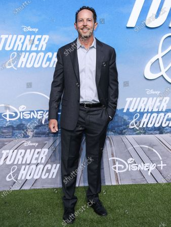 Writer Matt Nix arrives at the Disney+ 'Turner & Hooch' Los Angeles Premiere Event held at the Westfield Century City Mall on July 15, 2021 in Century City, Los Angeles, California, United States.