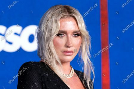 Kesha Rose Sebert, AKA Kesha, poses prior to the premiere of the Apple's 'Ted Lasso' Season 2 at Pacific Design Center in Hollywood, California, USA, 15 July 2021. The second season of the TV show will air on July 23, 2021.