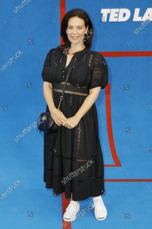 Meredith Salenger poses prior to the premiere of the Apple's 'Ted Lasso' Season 2 at Pacific Design Center in Hollywood, California, USA, 15 July 2021. The second season of the TV show will air on July 23, 2021.