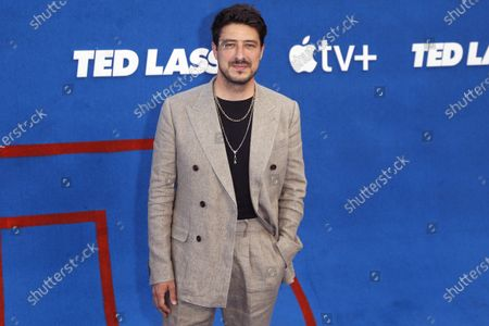 English singer Marcus Mumford poses prior to the premiere of the Apple's 'Ted Lasso' Season 2 at Pacific Design Center in Hollywood, California, USA, 15 July 2021. The second season of the TV show will air on July 23, 2021.