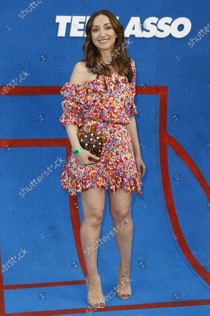 Jamie Lee poses prior to the premiere of the Apple's 'Ted Lasso' Season 2 at Pacific Design Center in Hollywood, California, USA, 15 July 2021. The second season of the TV show will air on July 23, 2021.