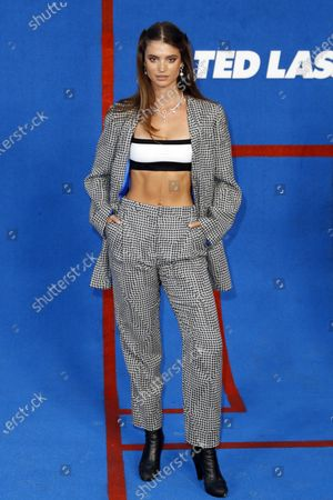 Charlbi Dean Kriek poses prior to the premiere of the Apple's 'Ted Lasso' Season 2 at Pacific Design Center in Hollywood, California, USA, 15 July 2021. The second season of the TV show will air on July 23, 2021.