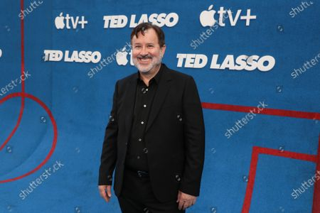 """Jeremy Swift attends Apple""""s """"Ted Lasso"""" season two premiere at the Pacific Design Center. """"Ted Lasso"""" season two will premiere globally on Apple TV+ on July 23rd."""