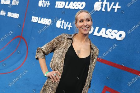 """Stock Image of Nikki Glaser attends Apple""""s """"Ted Lasso"""" season two premiere at the Pacific Design Center. """"Ted Lasso"""" season two will premiere globally on Apple TV+ on July 23rd."""