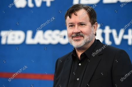"""Jeremy Swift arrives at the premiere of the second season of """"Ted Lasso"""", at the Pacific Design Center"""