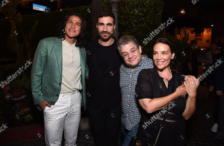 """Stock Photo of Cristo Fernandez, Brett Goldstein, Patton Oswalt and Meredith Salenger attend Apple""""s """"Ted Lasso"""" season two premiere after party. """"Ted Lasso"""" season two will premiere globally on Apple TV+ on July 23rd."""