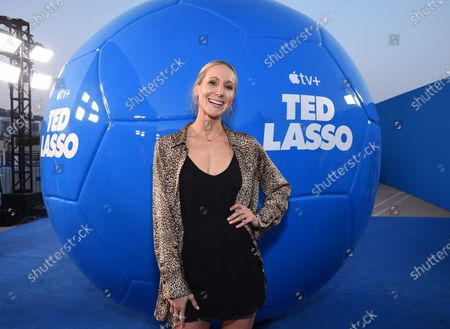 """Stock Photo of Nikki Glaser attends Apple""""s """"Ted Lasso"""" season two premiere at the Pacific Design Center. """"Ted Lasso"""" season two will premiere globally on Apple TV+ on July 23rd."""