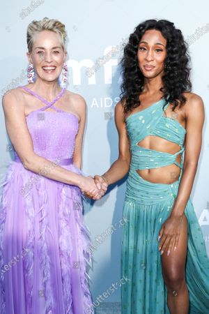 Stock Picture of Sharon Stone and Mj Rodriguez