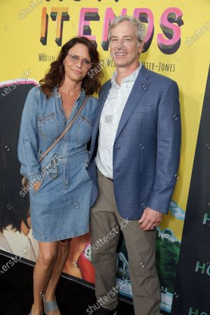 Stock Image of Amy Landecker and Rob Huebel