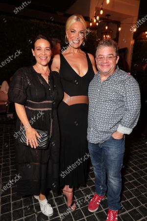 """Stock Picture of LOS ANGELES, CA - JULY 15: Meredith Salenger, Hannah Waddingham and Patton Oswalt attend Apple""""s """"Ted Lasso"""" season two premiere after party. """"Ted Lasso"""" season two will premiere globally on Apple TV+ on July 23rd."""