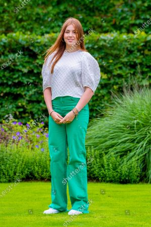 Princess Alexia of the Netherlands during the annual summer photo session of 2021 at Huis ten Bosch Palace in The Hague.