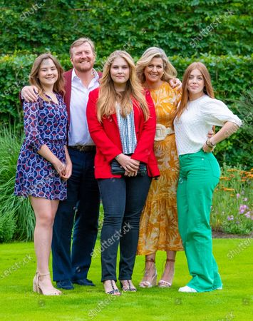 Editorial photo of Dutch Royal family summer photo session at Huis ten Bosch Palace, The Hague, The Netherlands - 16 Jul 2021