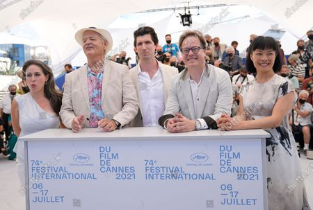 Vanessa Perez, from left, Bill Murray, director Andrew Muscato, Jan Vogler and Mira Wang pose for photographers at the photo call for the film 'New Worlds: The Cradle of Civilization' at the 74th international film festival, Cannes, southern France