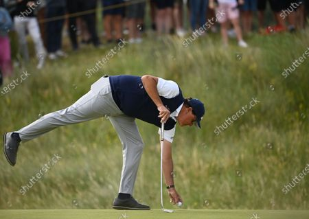 Phil Mickelson of the US in action during the 2nd round of The Open 2021 golf championship at Royal St George's golf course in Sandwich, Kent, Britain, 16 July 2021.