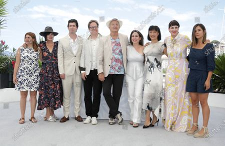 Stock Photo of Amanda Livanou, Karen Duffy, director Andrew Muscato, Jan Vogler, Bill Murray, Vanessa Perez, Mira Wang, Tanja Dorn and Emma Doxiadi  pose during the photocall for 'New Worlds: The Cradle of Civilization' at the 74th annual Cannes Film Festival, in Cannes, France, 16 July 2021. The festival runs from 06 to 17 July.