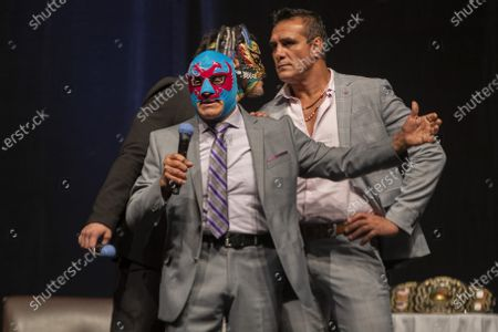 Editorial picture of 'Made In Mexico Wrestling' event press conference, Mexico City, Mexico - 13 Jul 2021