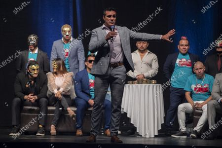 Editorial image of 'Made In Mexico Wrestling' event press conference, Mexico City, Mexico - 13 Jul 2021