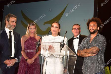 Stock Image of Michel Moawad, Kiera Chaplin, Manuel Collas De La Roche, Clarisse Alves, Marcelo Vieira Junior,.