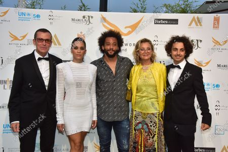 Stock Picture of Manuel Collas De La Roche, Clarisse Alves, Marcelo Vieira Junior, Karine Ellena Partouche.